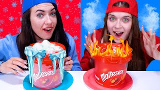 ASMR Hot VS Cold Food Challenge | Icy Girl VS Girl On Fire By LiLiBu