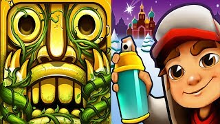 Temple Run 2 Sky Summit VS Subway Surfers Saint Petersburg Android Gameplay