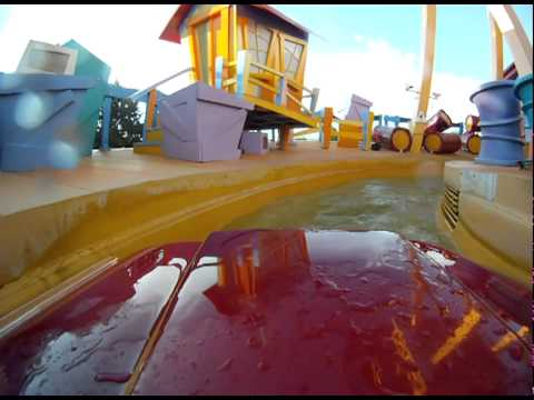 Dudley Do-Rights Ripsaw Falls (HD, front seat)