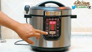 قدر الضغط الكهربائي(قدر العزوبية) (قدر المعلمات) شرح طريقة التشغيل +تجربة طبخ كبسة +تجربة شكشوكة ! !