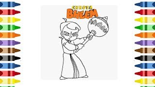 How to draw chota bheem & learn colors cartoon and coloring cartoon chhota bheem coloring page