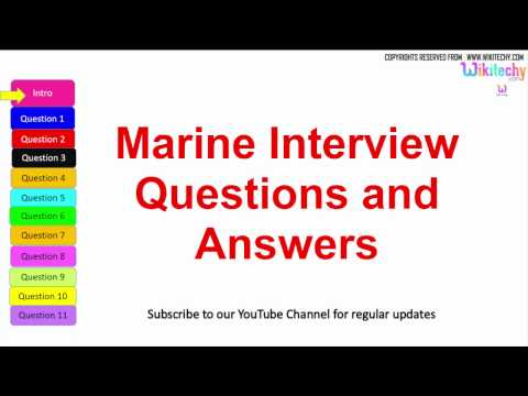 Top 10 marine interview questions with answers for freshers