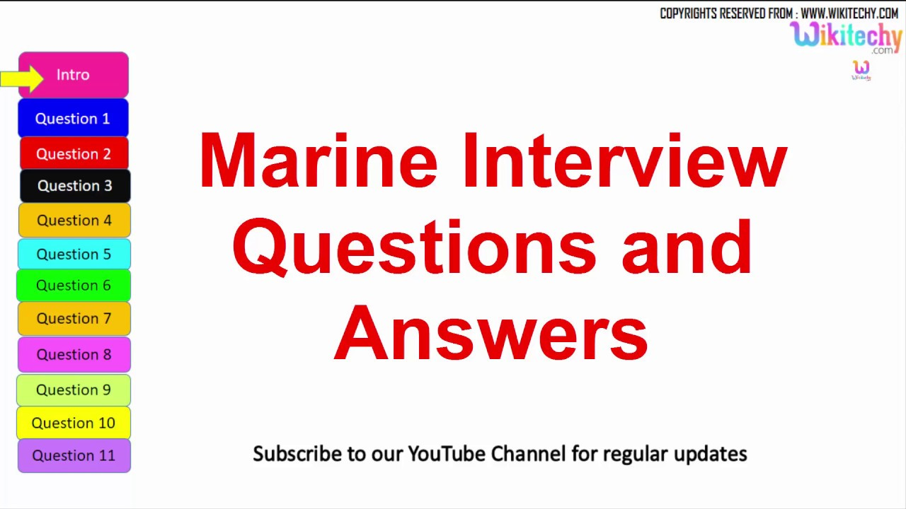 top marine interview questions answers for freshers and top 10 marine interview questions answers for freshers and experienced online videos