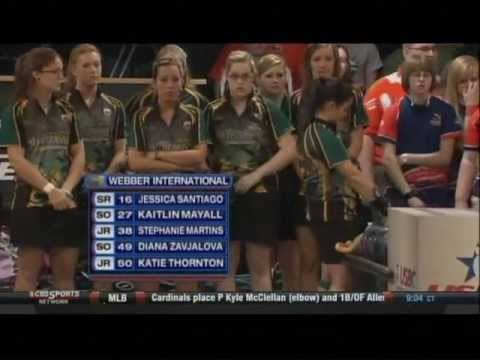2012 USBC Intercollegiate Championships: Womens Team Event: Webber vs Midland Game 1