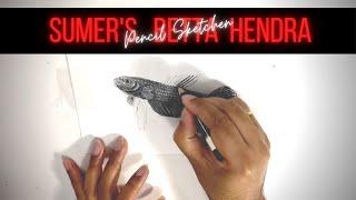 Pencil Sketch Of Sumer's Betta Hendra