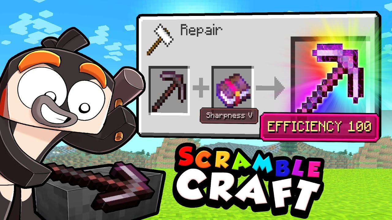 I Randomized ENCHANTMENTS in Minecraft! (Scramble Craft)