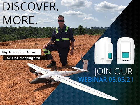 Webinar | How to map 6000 hectares with the Qube 240 LiDAR in Ghana in cooperation with Rocketmine