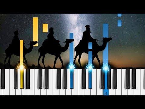 We Three Kings - EASY Piano Tutorial