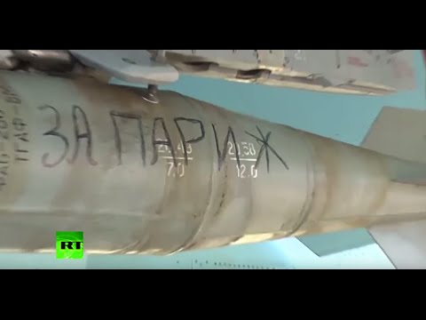 'For Paris': Russian air force inscribe bombs to strike ISIS targets
