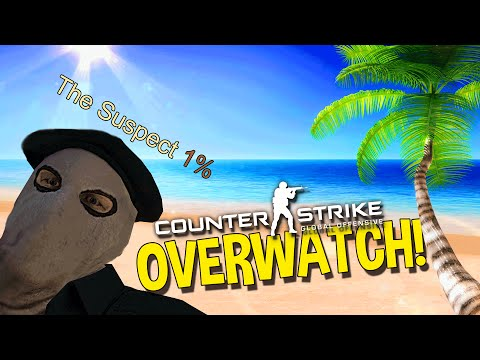 CS:GO MOST OBVIOUS BHOP SCRIPT WALL HACKER - OVERWATCH FUNNY MOMENTS