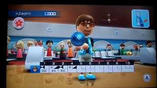 wii sports resort bowling only strikes and spares