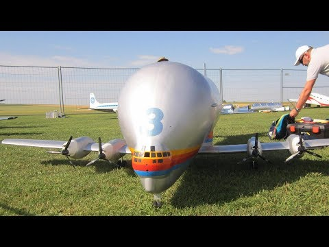 RC AIRPLANE CRASH SUPER GUPPY B-377 OUT OF CONTROLL