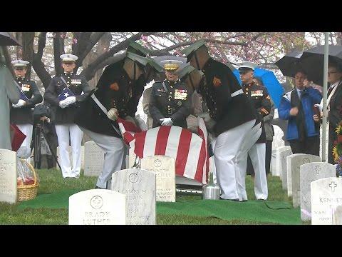 NASA astronaut and U.S. Senator John Glenn was laid to rest at Arlington National Cemetery