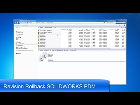 How To Use SOLIDWORKS PDM Rollback