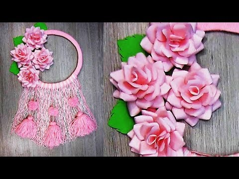 Diy Paper Flower And Woolen Wall Hanging Woolen Craft Paper Flower Wall Hanging Easy Decor K8