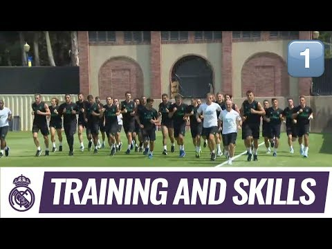 Real Madrid squad complete first training session at UCLA ✅