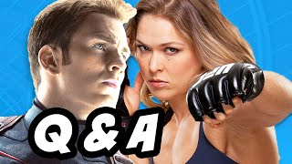 Captain America Civil War Q&A and Ronda Rousey Captain Marvel