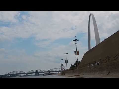 The Muddy Mighty Mississippi River and the Gateway Arch in St. Louis, Missouri