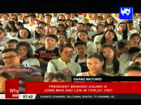 Pres. Benigno Aquino III joins Mar and Leni in Tarlac visit