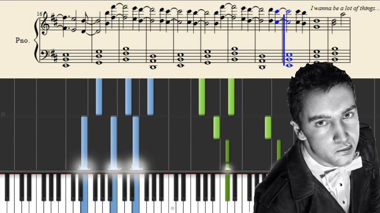 Tyler Joseph Of Tøp Drown Piano Tutorial Sheets Chords