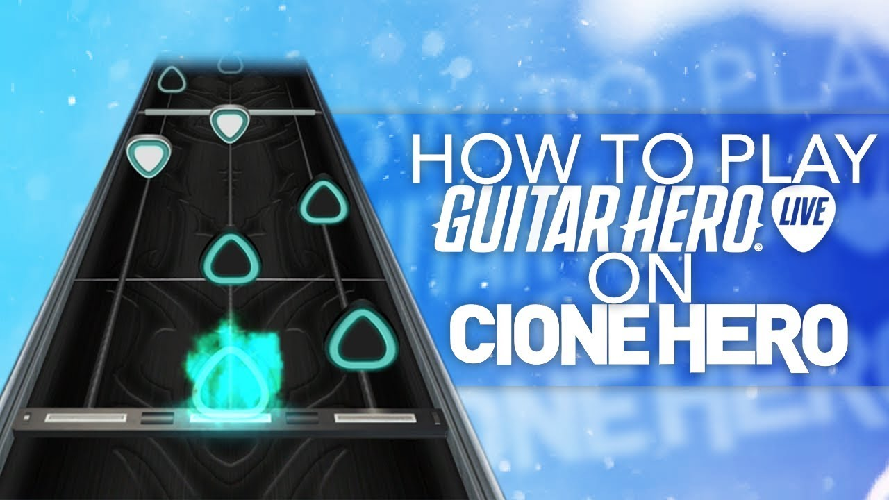 How To Play Guitar Hero Live Guitar On PC - GHL Properly On Clone Hero  (1100 6 Fret Charts - Songs)