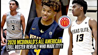2020 McDonalds All American Full ROSTER Video!! Jalen Green, Josh Christopher, Sharife Cooper & MORE