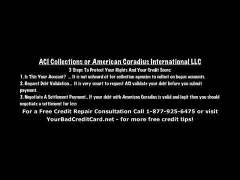ACI Collections or American Coradius International LLC Debt Collection Agency