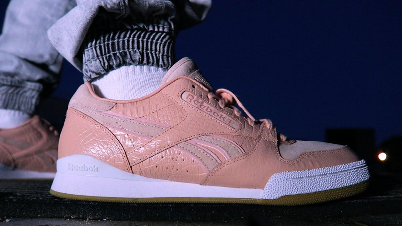 ON FOOT Sneaker Review NOTORIOUS B.I.G. Pink Gators  Detroit Playas  -  Reebok x Burn Rubber 3d70f0062