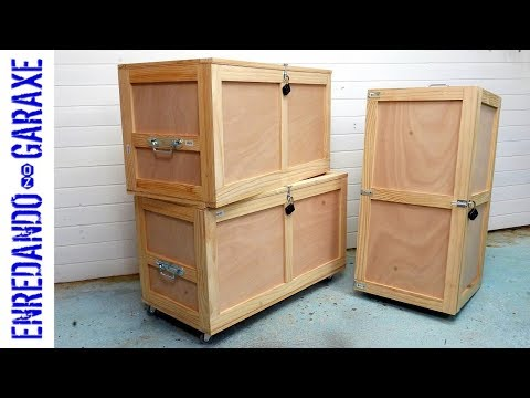How to make a storage trunk out of reinforced plywood 💪