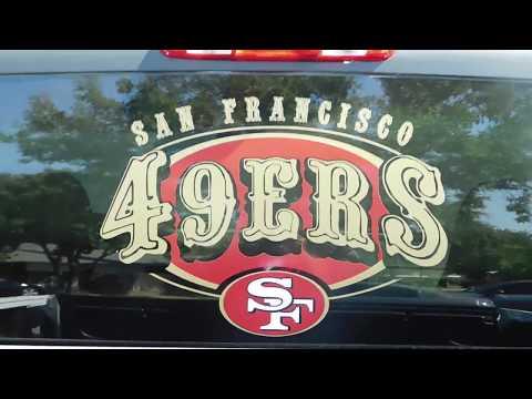 49ers Door Stickers - Fresno's Kool Design