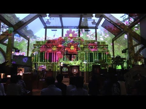 Music boxes, projections and aroma of roses combine to play flower concert at Kobe museum