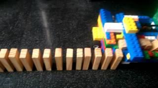 My Lego domino row building machine