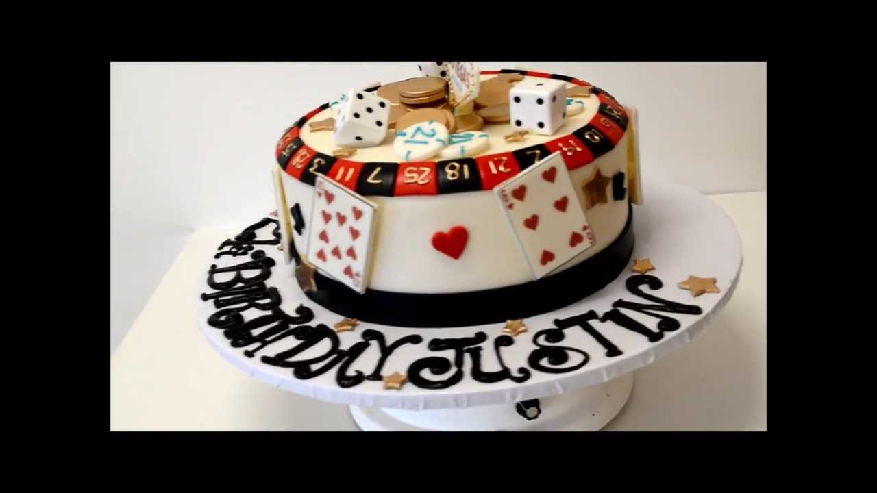 Gamblers Cake Vegas Theme Birthday Cake YouTube