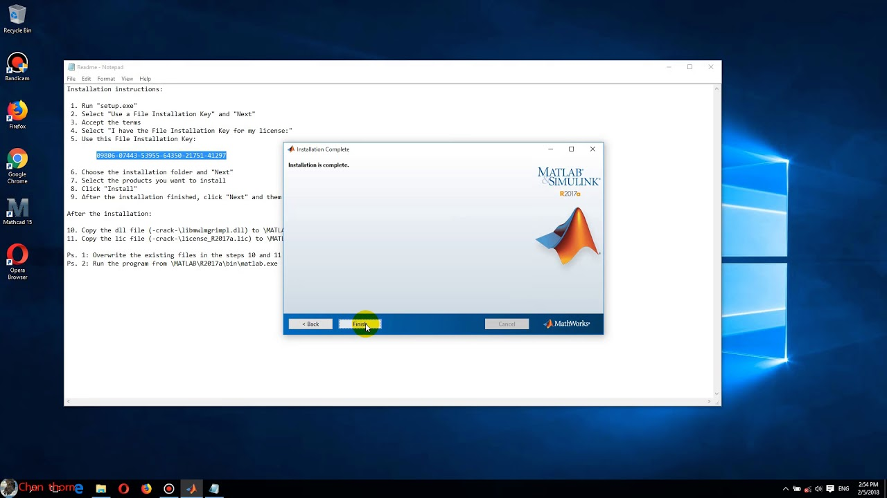 How to install Matlab R2017a -2018