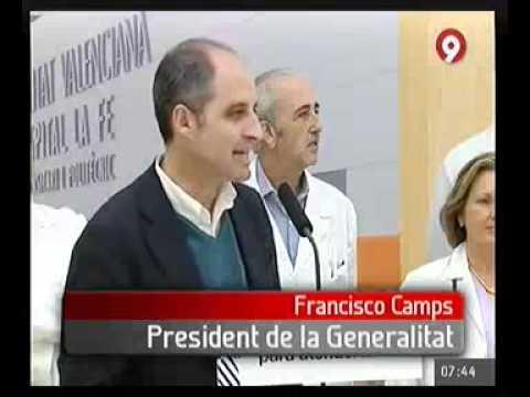 Camps visita al primer beb nacido en el nuevo hospital la - Hospital nueva fe valencia ...