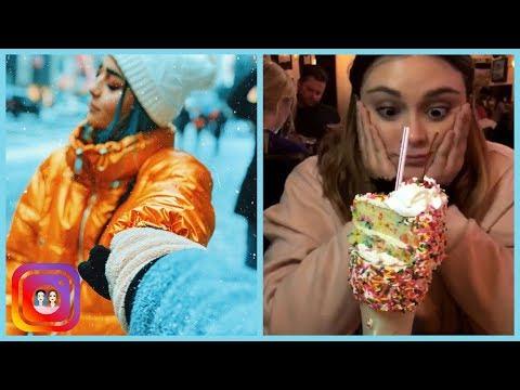 Poché conociendo la nieve en New York (30.12.2017)