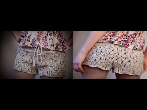 Tutorial Patrón pantalón short crochet o ganchillo paso a paso ...