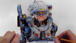 Linda - Speed Drawing - How To Draw - Halo 5: Guardians