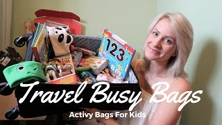 Plane And Travel Activity Busy Bags For Young Children And Toddlers