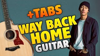 SHAUN – Way Back Home (fingerstyle guitar cover with tabs and karaoke lyrics)