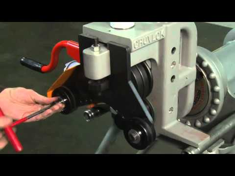 Anvil International   Grooved Pipe Fittings   Roll Groove Operation Video