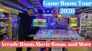 Game Room / Man Cave Tour 2020 Video Games, Board Games, Movie Theater, Arcade Room