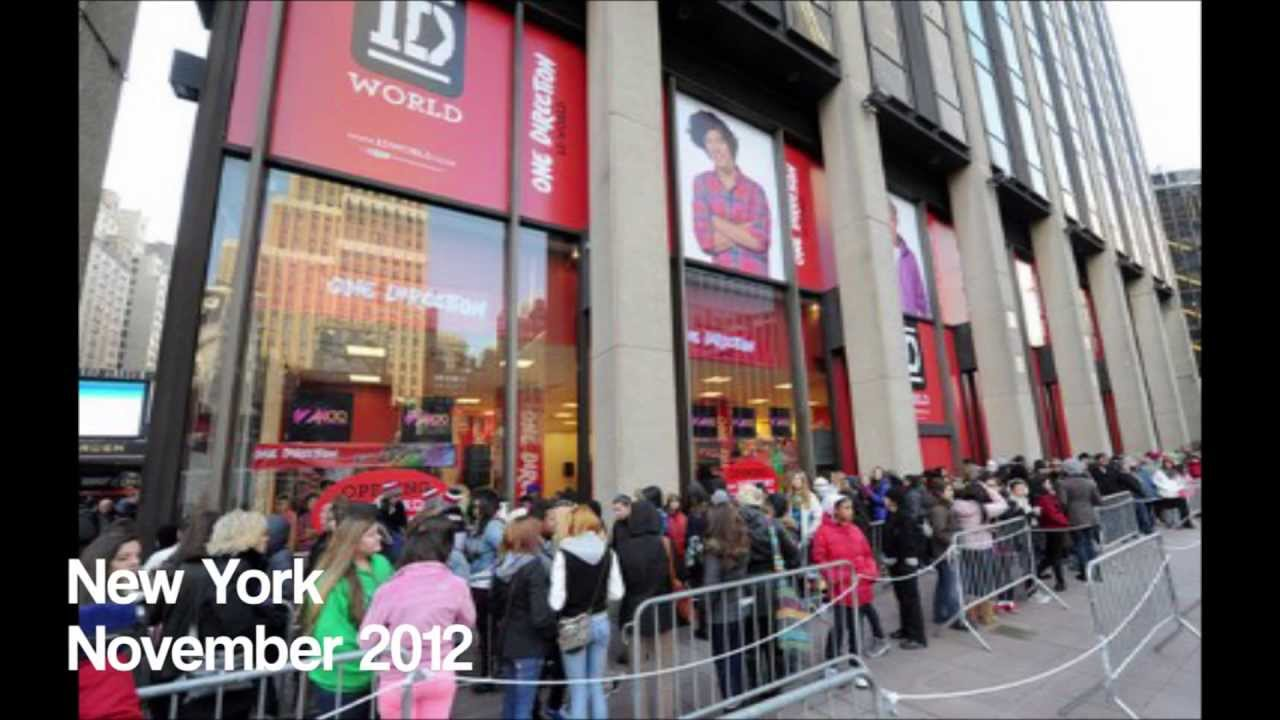 All Of The One Direction World Stores So Far! - YouTube