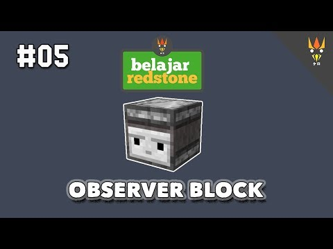 Belajar Redstone #5 : MENGENAL OBSERVER BLOCK