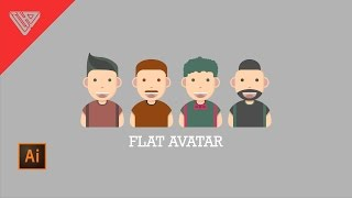 creating Flat Avatar | Adobe Illustrator