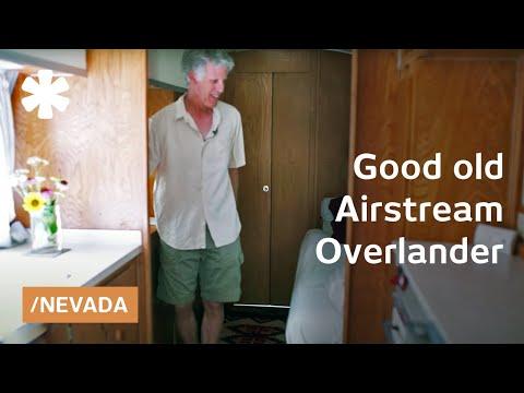 Nevada desert modern life in renewed 66 Airstream Overlander