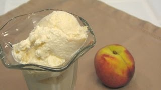 Fresh Peach Ice Cream -- July 4th -- Lynn's Recipes