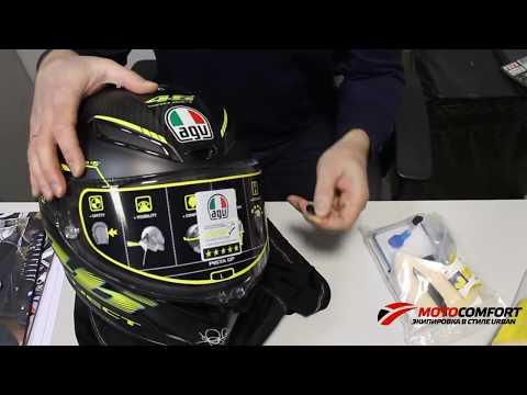 Топовый мотошлем интеграл AGV Pista GP. Распаковка и обзор.