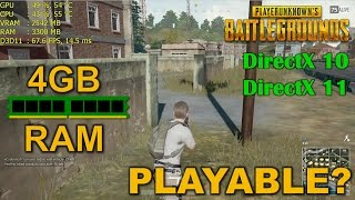 PLAYERUNKNOWN's Battlegrounds with 4GB of RAM, is it playable? 💥READ THE DESCRIPTION💥