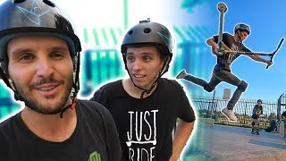 RAYMOND WARNER VS RYAN WARNER! *GAME OF SCOOT* thumbnail